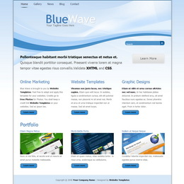 Tooplate Blue Wave