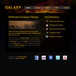 Tooplate Galaxy Design