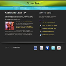Tooplate Green Ray