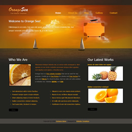 Tooplate Orange Sea