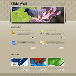 Tooplate Slide Wall