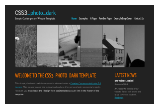 css3templates Photo Dark