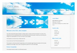 css3templates Mobil Skies