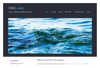 css3templates Mobil Water