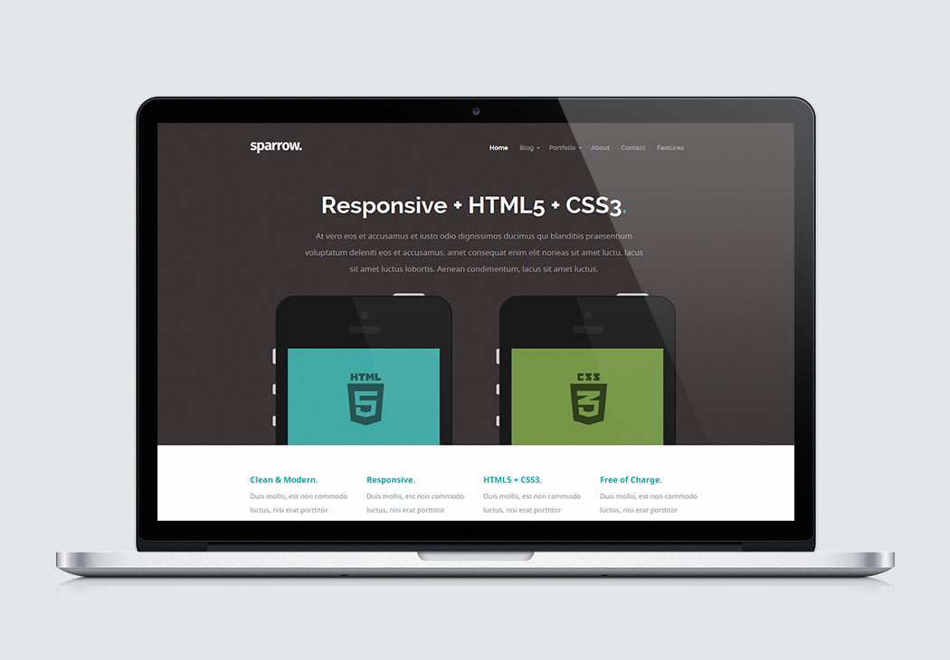Styleshout Sparrow HTML 5